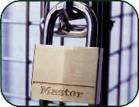 Mesh locker Padlock security